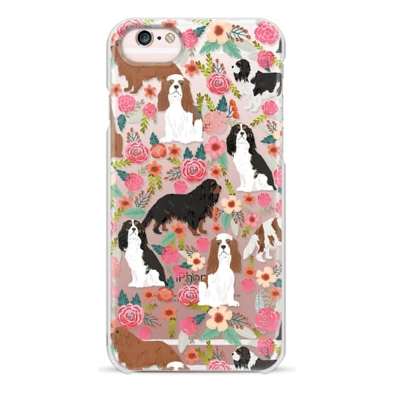 iPhone 6s Cases - Cavalier King Charles Spaniel florals cell phone case for dog person unique dog breed custom gifts by pet friendly