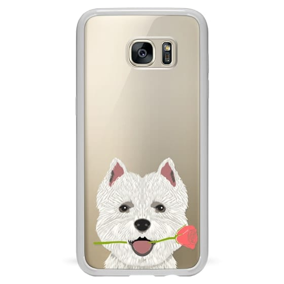 Samsung Galaxy S7 Edge Cases - Highland Terrier dog owner gift idea cute cell phone case for dog person different dog breeds
