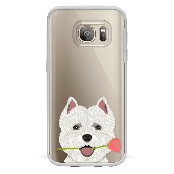 Samsung Galaxy S7 Cases - Highland Terrier dog owner gift idea cute cell phone case for dog person different dog breeds