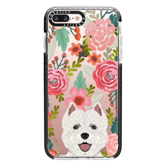 26cf44e488 ... gifts for dog person. iPhone 7 Plus Cases - Highland Terrier cute  florals girly hipster trendy transparent cell phone case