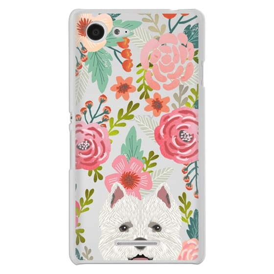 6b070a9463 Sony E3 Cases - Highland Terrier cute florals girly hipster trendy  transparent cell phone case dog