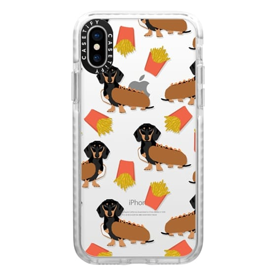 iPhone X Cases - Dachshund cute hot dog and french fries junk food moxie owners must haves iphone6 transparent pet portraits