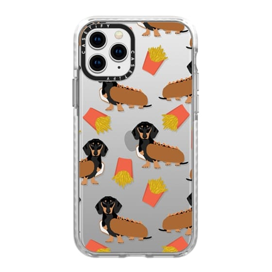 iPhone 11 Pro Cases - Dachshund cute hot dog and french fries junk food moxie owners must haves iphone6 transparent pet portraits