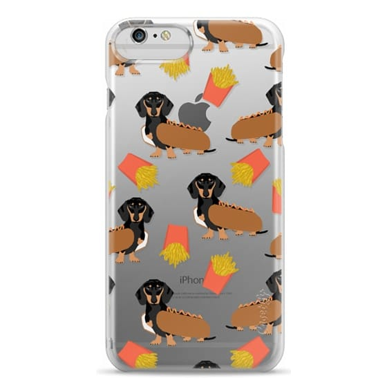iPhone 6 Plus Cases - Dachshund cute hot dog and french fries junk food moxie owners must haves iphone6 transparent pet portraits