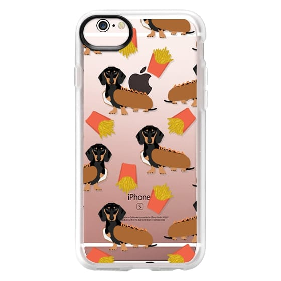 iPhone 6s Cases - Dachshund cute hot dog and french fries junk food moxie owners must haves iphone6 transparent pet portraits