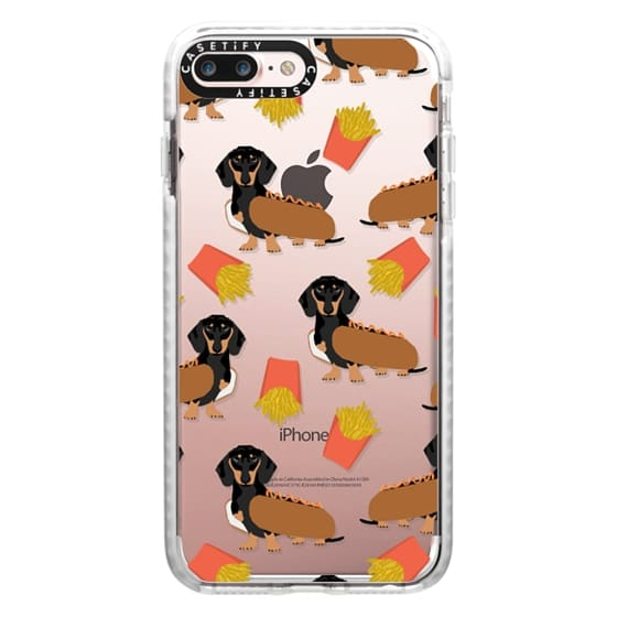 iPhone 7 Plus Cases - Dachshund cute hot dog and french fries junk food moxie owners must haves iphone6 transparent pet portraits