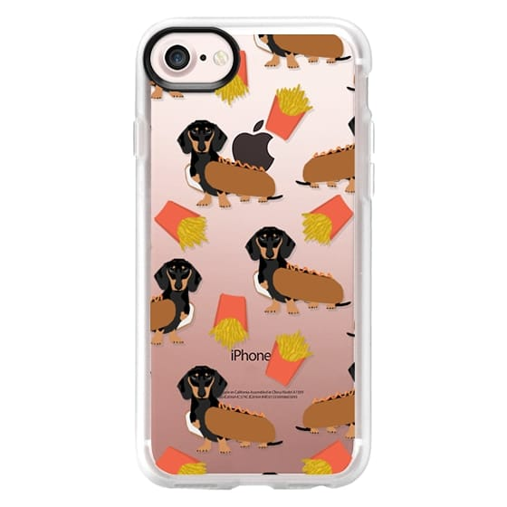 iPhone 7 Cases - Dachshund cute hot dog and french fries junk food moxie owners must haves iphone6 transparent pet portraits