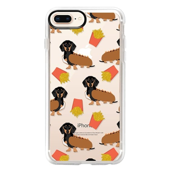 iPhone 8 Plus Cases - Dachshund cute hot dog and french fries junk food moxie owners must haves iphone6 transparent pet portraits