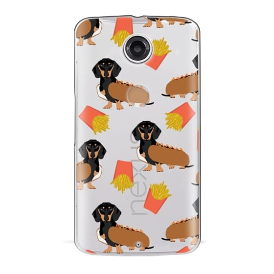 Nexus 6 Cases - Dachshund cute hot dog and french fries junk food moxie owners must haves iphone6 transparent pet portraits