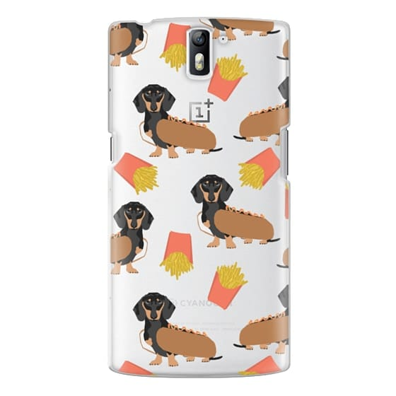 One Plus One Cases - Dachshund cute hot dog and french fries junk food moxie owners must haves iphone6 transparent pet portraits