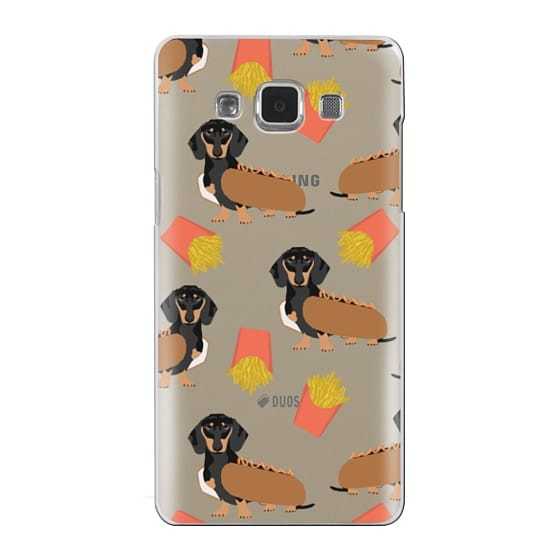 Samsung Galaxy A5 Cases - Dachshund cute hot dog and french fries junk food moxie owners must haves iphone6 transparent pet portraits