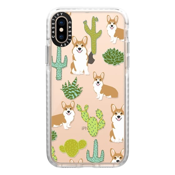 iPhone XS Cases - Corgi welsh corgi cute cacti succulents nature pattern iphone6 transparent cell phone case dog portrait pet art