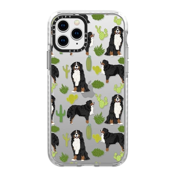 iPhone 11 Pro Cases - Bernese Mountain Dog cactus southwest desert style dog gifts for bernese owner