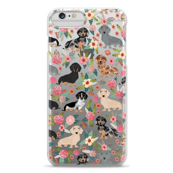 iPhone 6 Plus Cases - Dachshunds mixed coat colors dog breed pet portrait clear cases for dog lovers custom dog breed gifts by pet friendly