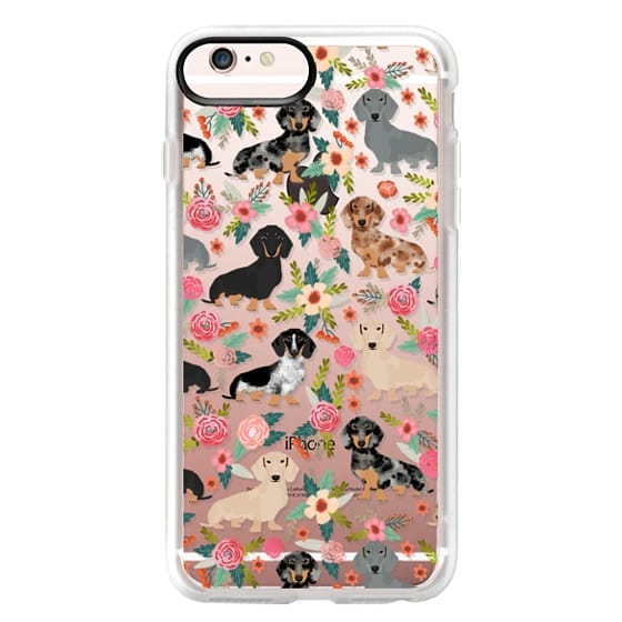 iPhone 6s Plus Cases - Dachshunds mixed coat colors dog breed pet portrait clear cases for dog lovers custom dog breed gifts by pet friendly