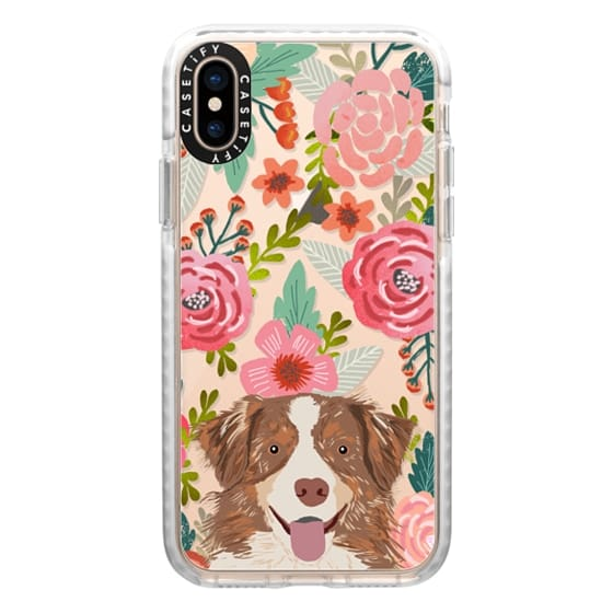 iPhone XS Cases - Cute Aussie happy australian shepherd cell phone case transparent dog iphone6 case