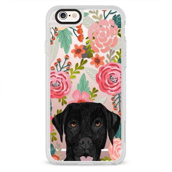 iPhone 4 Cases - Black Lab cute labrador retriever pet portrait dog gifts custom dog person must have cell phone transparent case