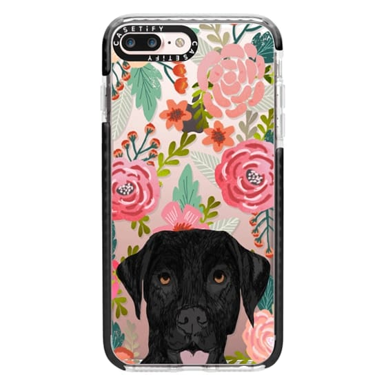 iPhone 7 Plus Cases - Black Lab cute labrador retriever pet portrait dog gifts custom dog person must have cell phone transparent case