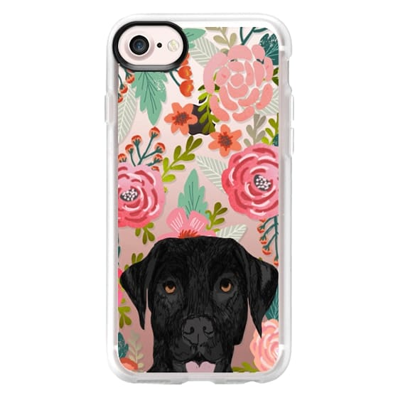 iPhone 7 Cases - Black Lab cute labrador retriever pet portrait dog gifts custom dog person must have cell phone transparent case