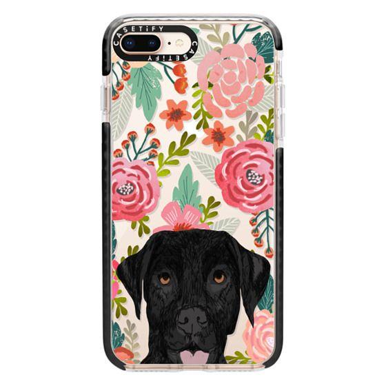iPhone 8 Plus Cases - Black Lab cute labrador retriever pet portrait dog gifts custom dog person must have cell phone transparent case