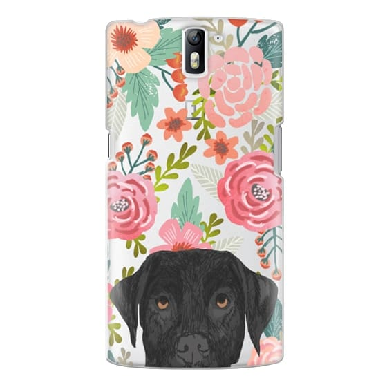 One Plus One Cases - Black Lab cute labrador retriever pet portrait dog gifts custom dog person must have cell phone transparent case