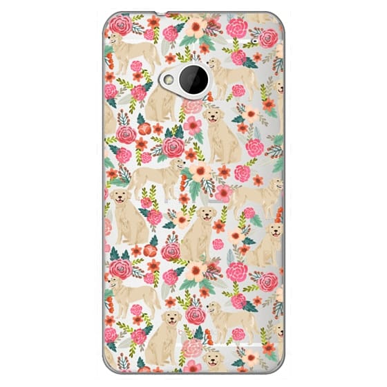 Htc One Cases - Golden Retrievers Florals cute dogs dog design cute flowers labradors golden retriever owners will love this clear iphone 6 case