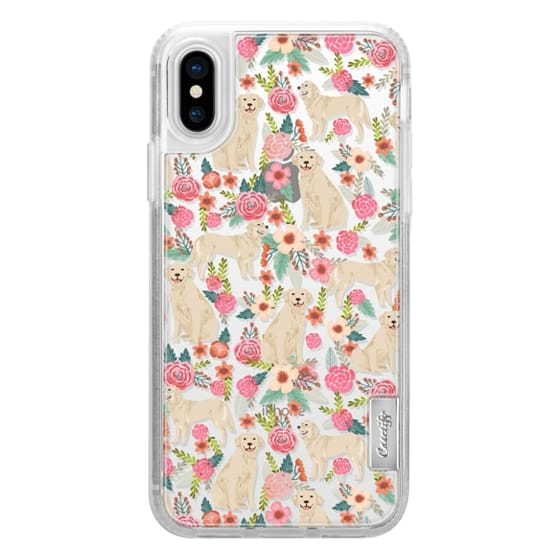 iPhone X Cases - Golden Retrievers Florals cute dogs dog design cute flowers labradors golden retriever owners will love this clear iphone 6 case
