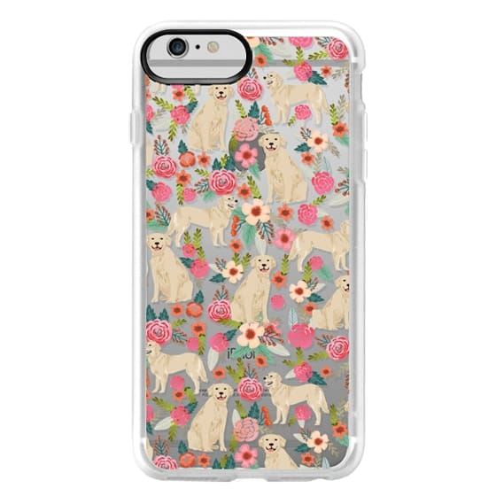 iPhone 6 Plus Cases - Golden Retrievers Florals cute dogs dog design cute flowers labradors golden retriever owners will love this clear iphone 6 case
