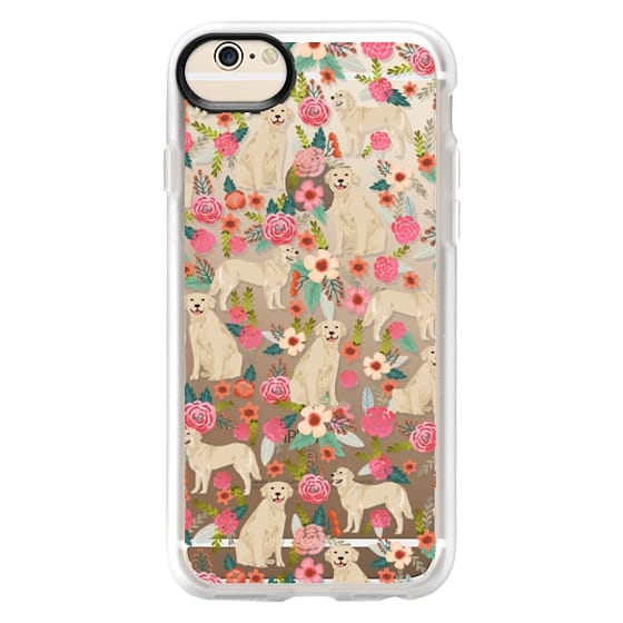 iPhone 6 Cases - Golden Retrievers Florals cute dogs dog design cute flowers labradors golden retriever owners will love this clear iphone 6 case