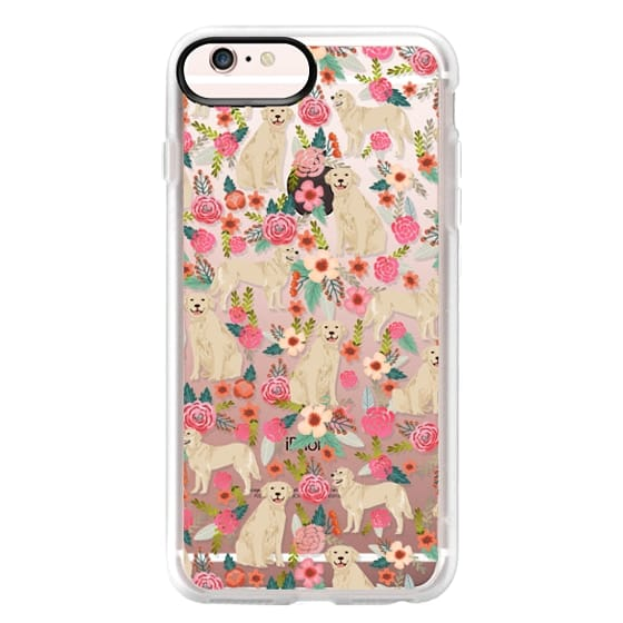 iPhone 6s Plus Cases - Golden Retrievers Florals cute dogs dog design cute flowers labradors golden retriever owners will love this clear iphone 6 case
