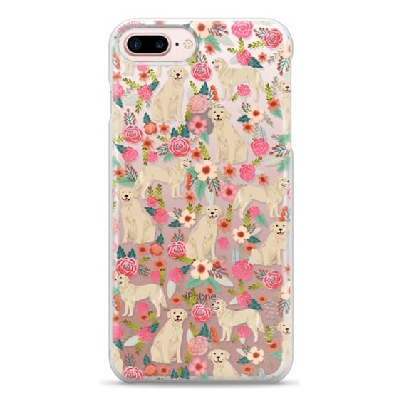 iPhone 7 Plus Cases - Golden Retrievers Florals cute dogs dog design cute flowers labradors golden retriever owners will love this clear iphone 6 case
