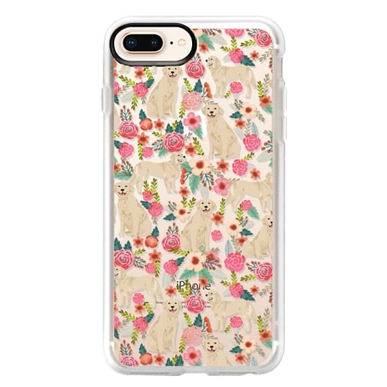 iPhone 8 Plus Cases - Golden Retrievers Florals cute dogs dog design cute flowers labradors golden retriever owners will love this clear iphone 6 case