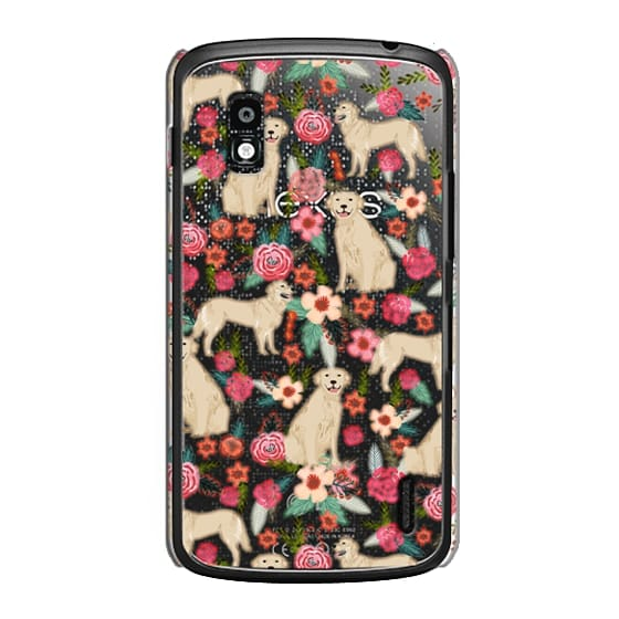 Nexus 4 Cases - Golden Retrievers Florals cute dogs dog design cute flowers labradors golden retriever owners will love this clear iphone 6 case