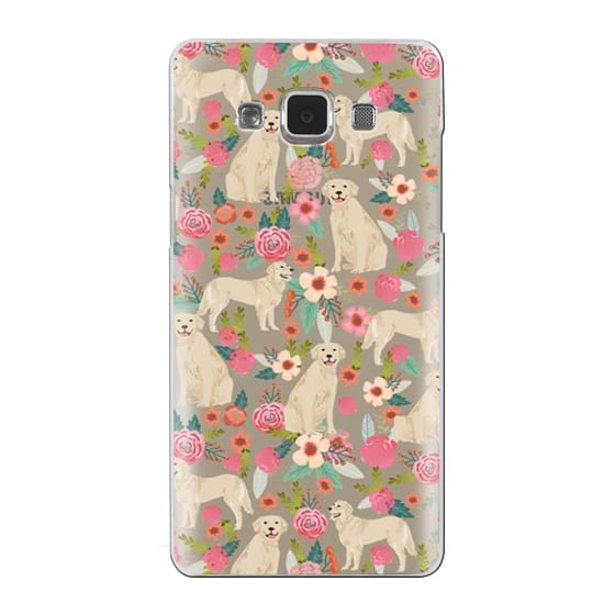 Samsung Galaxy A5 Cases - Golden Retrievers Florals cute dogs dog design cute flowers labradors golden retriever owners will love this clear iphone 6 case