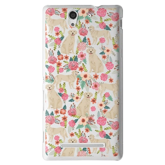 Sony C3 Cases - Golden Retrievers Florals cute dogs dog design cute flowers labradors golden retriever owners will love this clear iphone 6 case