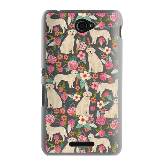 Sony E4 Cases - Golden Retrievers Florals cute dogs dog design cute flowers labradors golden retriever owners will love this clear iphone 6 case