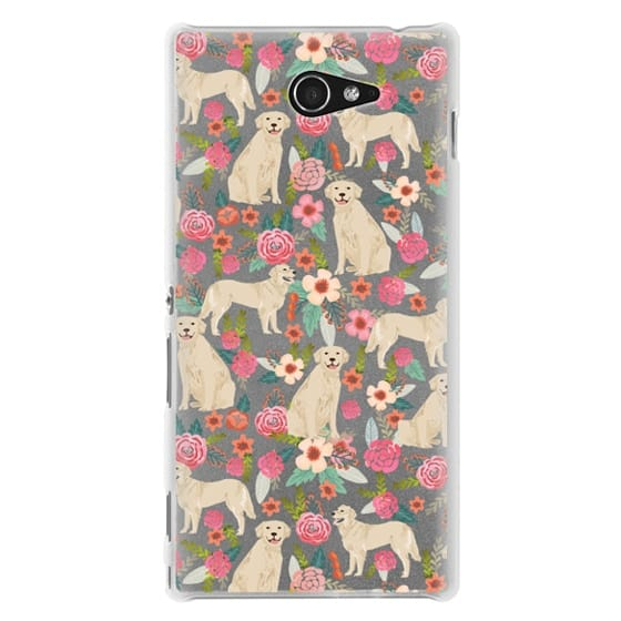 Sony M2 Cases - Golden Retrievers Florals cute dogs dog design cute flowers labradors golden retriever owners will love this clear iphone 6 case