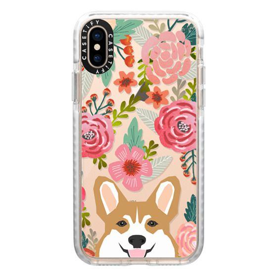 super popular 9300a efdd3 Impact iPhone XS Case - Corgi in the flowers cute spring corgi dog cell  phone case for corgi owners