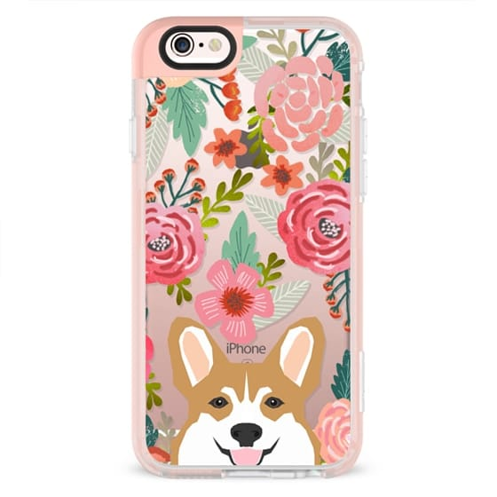 iPhone X Cases - Corgi in the flowers cute spring corgi dog cell phone case for corgi owners