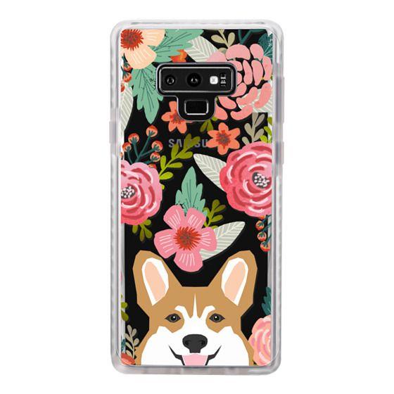 innovative design 03c4a 1d88f Impact Samsung Galaxy Note 9 Case - Corgi in the flowers cute spring corgi  dog cell phone case for corgi owners
