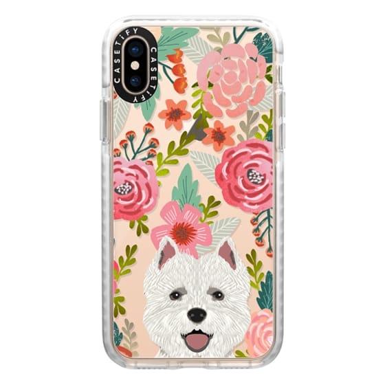 iPhone XS Cases - Highland Terrier cute florals girly hipster trendy transparent cell phone case dog breeds gifts for dog person