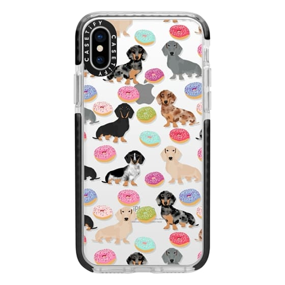 iPhone X Cases - Dachshund donuts cute funny clear case for doxie owners must have gifts tech accessories for dog person