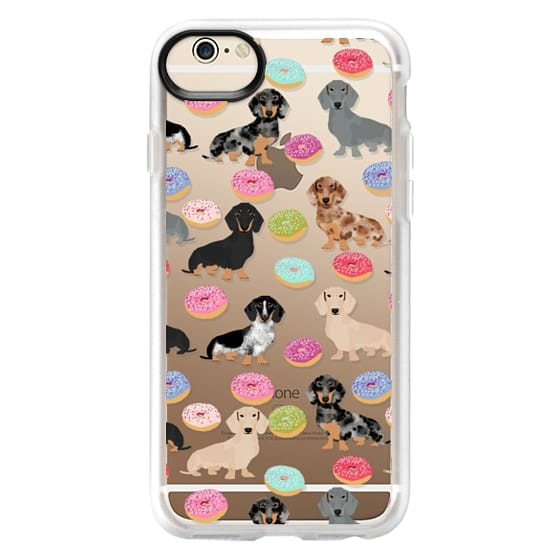 iPhone 6 Cases - Dachshund donuts cute funny clear case for doxie owners must have gifts tech accessories for dog person