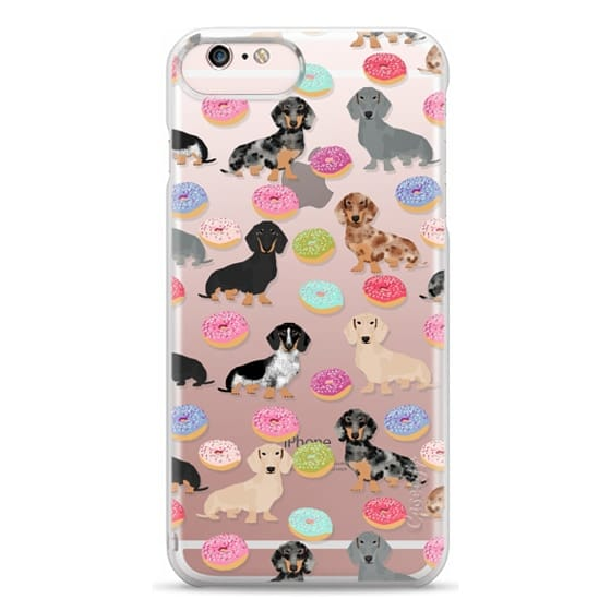 iPhone 6s Plus Cases - Dachshund donuts cute funny clear case for doxie owners must have gifts tech accessories for dog person