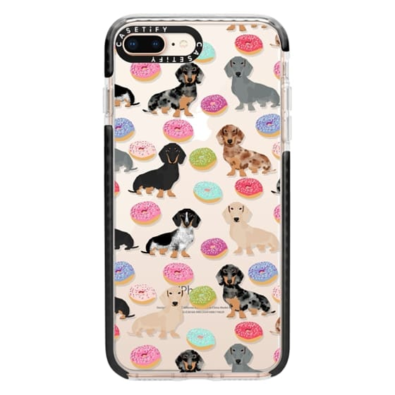 iPhone 8 Plus Cases - Dachshund donuts cute funny clear case for doxie owners must have gifts tech accessories for dog person