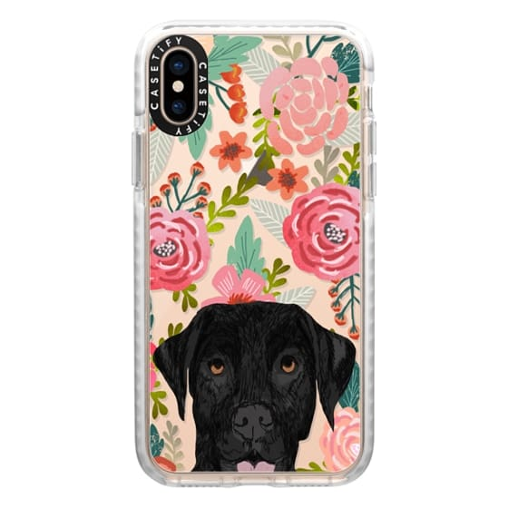 iPhone XS Cases - Black Lab cute labrador retriever pet portrait dog gifts custom dog person must have cell phone transparent case