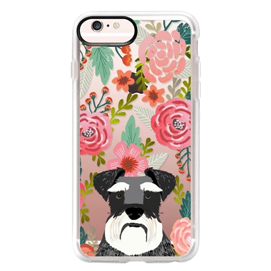 iPhone 6s Plus Cases - Schnauzer cute dog portrait pet gifts for dog lovers custom cell phone case dog breeds