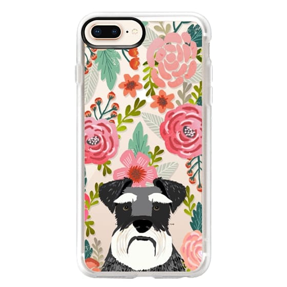 iPhone 8 Plus Cases - Schnauzer cute dog portrait pet gifts for dog lovers custom cell phone case dog breeds