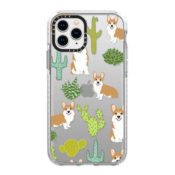 iPhone 11 Pro Cases - Corgi welsh corgi cute cacti succulents nature pattern iphone6 transparent cell phone case dog portrait pet art