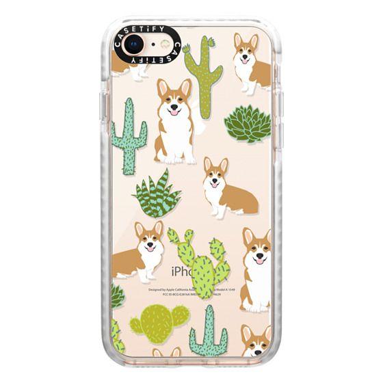 iPhone 8 Cases - Corgi welsh corgi cute cacti succulents nature pattern iphone6 transparent cell phone case dog portrait pet art